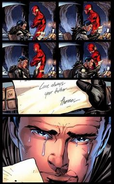the only time Wally will ever see Bruce cry in front of him