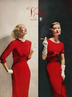 With Sunny Harnett (L), September Vogue 1956