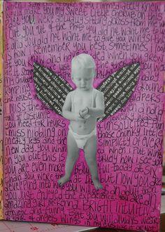 art journal cherub, donna downey