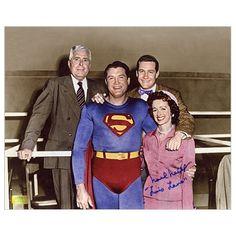 Noel Neill Autographed 8x10 1950s Superman Cast Photo @ niftywarehouse.com #NiftyWarehouse #Nerd #Geek #Entertainment #TV #Products