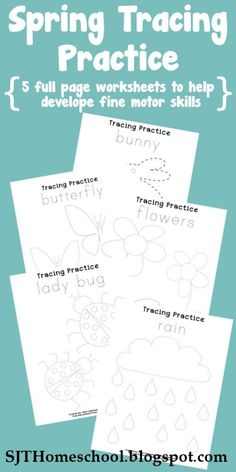 See Jamie Teach Homeschool: Spring Tracing Practice Pages
