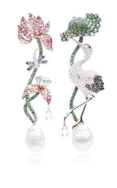 Briolette, Paraiba, And Sapphire Earrings by Anna Hu Haute Joaillerie for Preorder on Moda Operandi