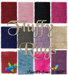 Fluffy Rugs at Annett's Sims 4 Welt via Sims 4 Updates