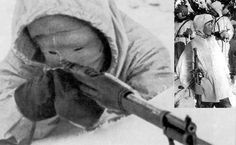 """Simo Hayha aka """"The White Death"""" Finnish Sniper 505 confirmed kills sniping (Iron sights only) Unofficial frontline estimates say over 800.200 confirmed kills by submachine gun.Operated alone.Killed all russian countersnipers sent.Survived other attempts to locate/kill him.Survived an artillery strike ordered specifically for him.Survived a carpet bombing sent specifically for him.Did all of this....in under 100 days.  The """"Winter War"""" between Finland and Russia,1939-1940"""