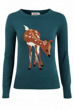 deer sweater // wear over the holidays