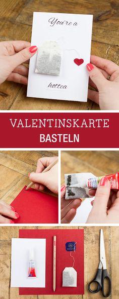 Valentinstagskarten basteln: Witzige Geschenkidee für den Valentinstag / craft romantic Valentine's Day cards via DaWanda.com