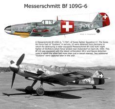 """Schweizer Luftwaffe Messerschmitt Bf 109G-6 J-704 Mtt built, W.Nr. 163 245 """"RQ+BI"""""""