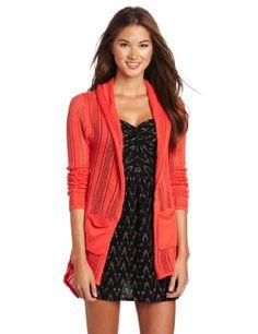 Amazon.com: Roxy Juniors Open Sleeve Cardigan: Clothing