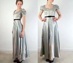 Vintage 1930s Dress /  Ombre Liquid Satin Evening by jessjamesjake, $119.00