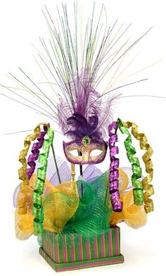 How to: Create a Custom Mardi Gras Centerpiece, How to: Create a Custom Mardi G. - How to: Create a Custom Mardi Gras Centerpiece, How to: Create a Custom Mardi G… – How to: Cr - Mardi Gras Centerpieces, Tree Centerpieces, Mardi Gras Decorations, Masquerade Centerpieces, Dance Decorations, Centerpiece Ideas, Mardi Gras Food, Mardi Gras Party, Mardi Gras Outlet