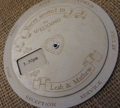 Engraved Wooden Wedding Invitations in the UK.