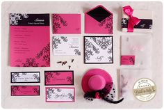 Hot + pink wedding suite, ph Fibre di Luce http://www.brideinitaly.com/2013/03/fibredilucegipsy.html #italianstyle #stationery