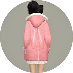 ACC Rabbit Hood Duffle Coat at Marigold via Sims 4 Updates