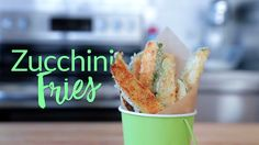 Satisfy your fast food cravings with this crunchy, delicious zucchini fries recipe. Tap for more details.