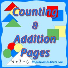 Counting and Addition Early Math Pages - Free #homeschool