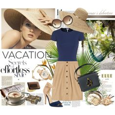 """""""Vacation: Secrets of Effortless Style"""" by molnijax on Polyvore @Polyvore #polyvore #molnijax #fashion #vacation #classy #resort #safari #summer"""