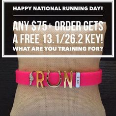 Happy National Running Day! How many runners are getting out there today? I wish I could get out on this gorgeous day!! Especially for my running friends, I'm running this promotion for TODAY only! Spend $75+* and get a FREE 26.2 OR 13.1 KEY! Orders must be placed on my website https://www.keep-collective.com/with/thenaaxiotis by 11:59 tonight.   #run #nationalrunningday #marathon #halfmarathon   *Pre-tax/shipping; offer not to be combined with any other orders or hostess credits.
