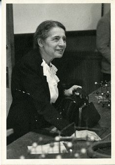 "In 1938, Austrian-born physicist Lise Meitner (1878-1968) fled Germany and eventually became a Swedish citizen. After World War II, Meitner received many awards, including being named ""Woman of the Year"" at the National Press Club in 1946. She was a Visiting Professor of Physics at Catholic University during Spring 1946. In a press release associated with her arrival, Dr. Meitner emphasized that her goal was ""wholly educational"": ""I have no intention to suggest how atomic energy should be…"