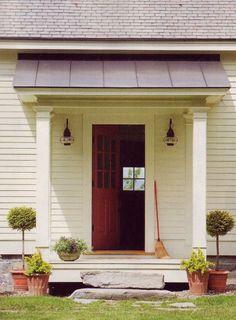 Door And Overhang Carriage House Pinterest Doors