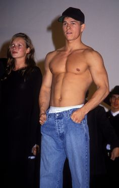 And Mark Wahlberg when he was Marky Mark. | The 22 Most '90s Pictures Of Kate Moss Ever Taken