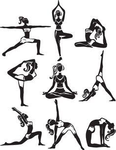 Image result for yoga font girl