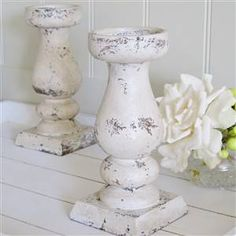 Large Stone Effect Candlestick | Bliss and Bloom Ltd