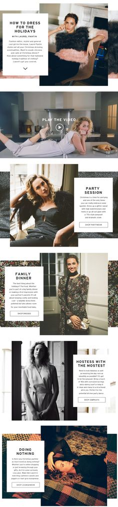 TOPSHOP - How to dress lookbook http://www.topshop.com/en/tsuk/category/how-to-dress-for-the-holidays-with- laurel-pantin-5032719/home?TS=1448370215482&intcmpid=_magazine