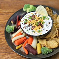 """Bacon Cheddar Ranch Dip 