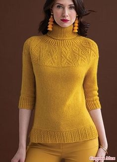 Ravelry Yoked Pullover by Norah Gaughan Vogue Knitting, Baby Knitting, Knitting Stitches, Knitting Patterns Free, Knitting Needles, Free Pattern, Coats For Women, Sweaters For Women, Pullover Outfit