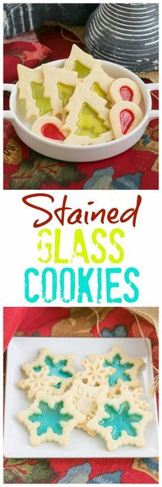 Stained Glass Cookies   Adding a little crushed candy to your sugar cookies makes for a fabulous holiday cookie! #cookies #holidays #christmas
