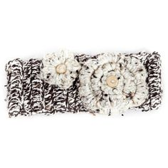 Winter Headband / Girls - Brown Speckled with Flower - - Myang SA Hand Crochet, Hand Knitting, Winter Headbands, Crochet Flowers, Boy Or Girl, Winter Outfits, Brown, Unique, Pretty