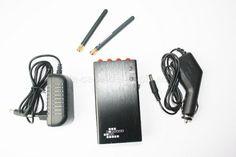 Silenciador portátil  : http://la-casa-del-espia.es/gsm_anulador/566.html  Este silenciador portátil le permite silenciar las comunicaciones móviles y los dispositivos inalámbricos (redes inalámbricas, cámaras inalámbricas, comunicaciones bluetooth). Está dotado de una batería recargable de litio-ion. En el kit hay adaptador de carga desde la red eléctrica y un cargador de coche.