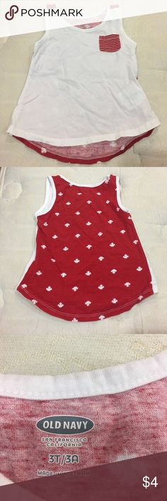 Old Navy tank w/ Canadian maple leaf design. 3T Old Navy tank with Canadian maple leaf design. EUC 3T Old Navy Shirts & Tops Tank Tops
