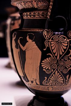 Volute krater. Red-figure. Terracotta. Greek, from Lucania in southern Italy but no find spot. Painting attributed to the Palermo Painter 415-400 B.C.
