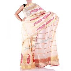 Assam tassar silk Mekhela and raw silk chadar