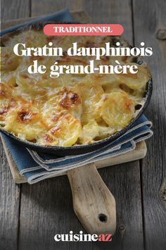 Une recette de grands-mères, avec ce gratin dauphinois. Cette recette traditionnelle autour des pommes de terre est un excellent accompagnement. #recette #cuisine #gratindauphinois #pommedeterre #gratin Quiches, Healthy, Food, Recipes, Cooker Recipes, Rice, Meal, Essen, Hoods
