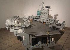 27 Brickin' Incredible Lego Creations .... Aircraft-carrier