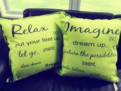 Relax and Imagine. Drop us an email to order these stunning cushions or to customize your own.