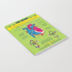 The Heart Notebook by grafokids Journal Entries, Doodles, Notebook, Heart, Artwork, Products, Work Of Art, Auguste Rodin Artwork, Journal