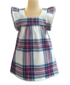 e6cd10065237 Love this Berry  amp  Flake Checkerboard Angel-Sleeve Dress - Infant