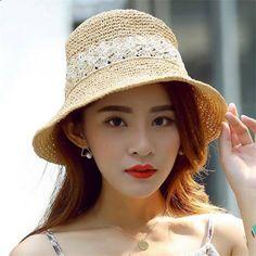 Summer Crochet straw sun hat for women beach wear