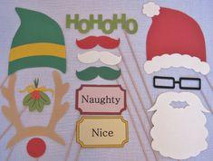 Christmas photo booth props - printable