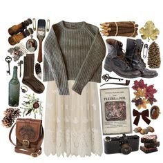 """lace in autumn"" by hiddlescat on Polyvore"
