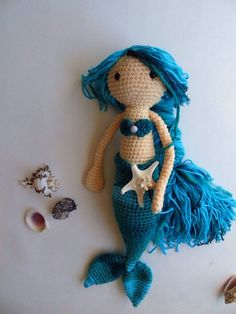 Crochet Mermaid Doll / Large Amigurumi Mermaid Doll / by EclecticJ