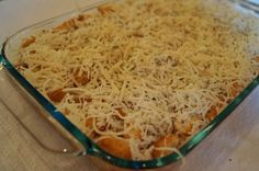 Chicken parm casserole! Just how my mom makes it