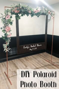 Oversized Polaroid Photo Booth -DIY Oversized Polaroid Photo Booth - Sweet, savory, rich, and tender. DIY Oversized Polaroid Photo Booth - Copper Photo Frame from a Tropical Pineapple Birthday Party on Kara's Party Ideas Polaroid Photo Booths, Photos Booth, Polaroid Photos, Diy Polaroid, Polaroid Frame, Polaroid Wedding, Diy Photobooth Frame, Frame For Photo Booth, Picture Frame