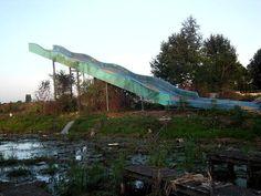 Abandoned water slide Dadipark Dadizele Belgien