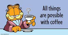 Garfield Pictures, Garfield Quotes, Garfield Cartoon, Garfield And Odie, Garfield Comics, Funny Cartoon Quotes, Funny Cartoons, Funny Memes, Son Quotes
