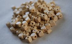 "100 Wooden Natural Cube Beads 6mm $1.50/300 beads {etsy"" SweetsBeads} Diy Supplies, Cube, Unique Jewelry, Handmade Gifts, Beads, Natural, Etsy, Vintage, Kid Craft Gifts"