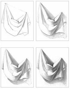 Drawing tips shadows ; drawing tips for beginners. Drapery Drawing, Fabric Drawing, Painting & Drawing, Drawing Skills, Drawing Lessons, Drawing Techniques, Drawing Tips, Drawing Ideas, Pencil Art Drawings